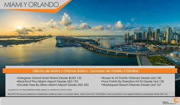 Miami y Orlando Básico: Promoción de hoteles 3 estrellas