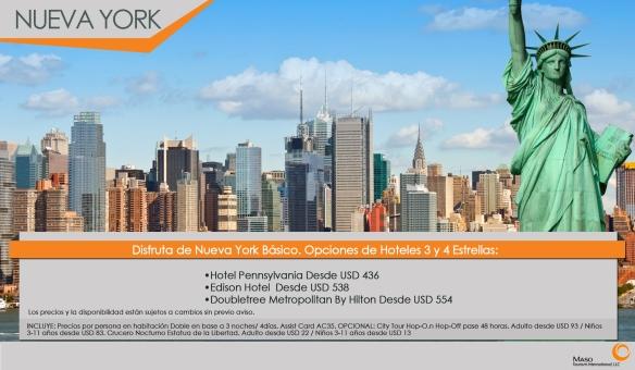 Nueva York Básico: Promoción de hoteles 3 y 4 estrellas