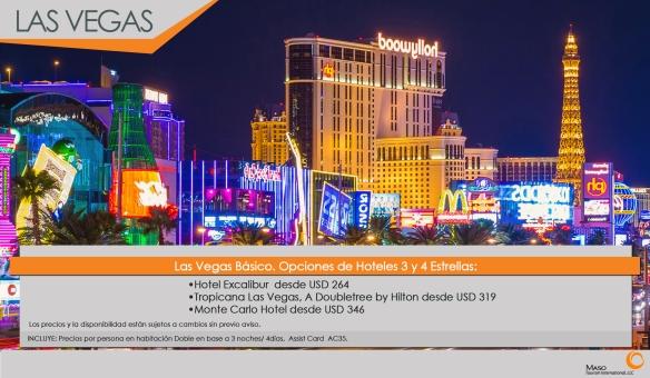 Las Vegas Básico: Promoción de hoteles 3 y 4 estrellas