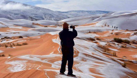 Nieve en el desierto del Sahara 1