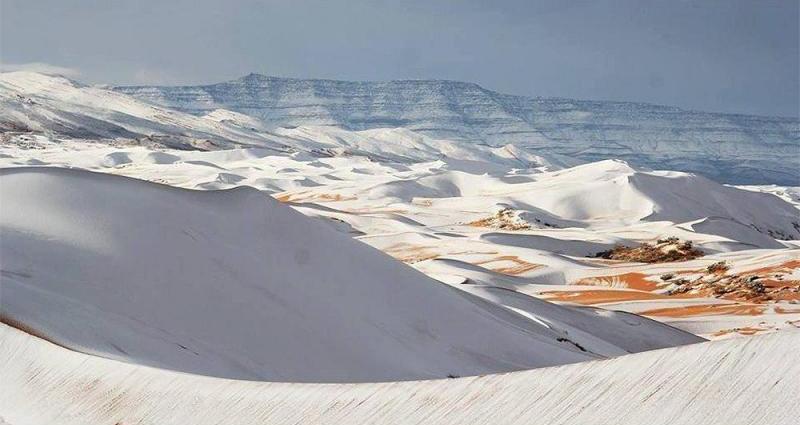Nieve en el desierto del Sahara 2