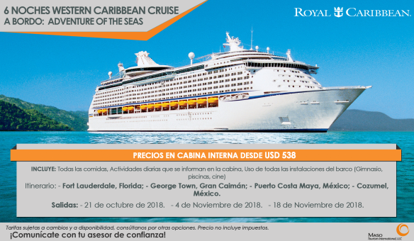 6 Noches Western Caribbean Cruise - A bordo Adventure of the Seas
