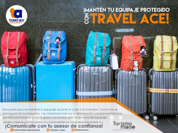 ¡Mantén tu equipaje protegido con Travel Ace!