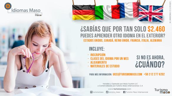 ¿Sabías que por tan solo $2.460 puedes aprender otro idioma en el exterior?