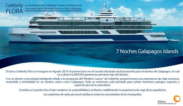 La revolución de Celebrity Cruises continúa con un nuevo barco diseñado para las Islas Galápago