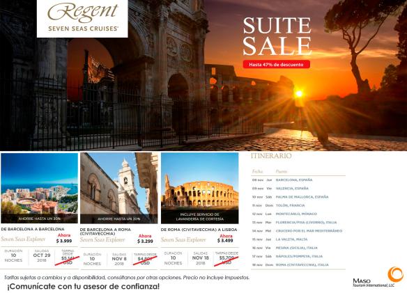 Regent Seven Seas Cruises a través del Mediterráneo