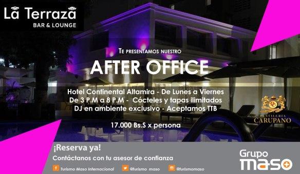 Caracas de noche en Hotel Continental Altamira